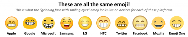 diffrent smiling emoji
